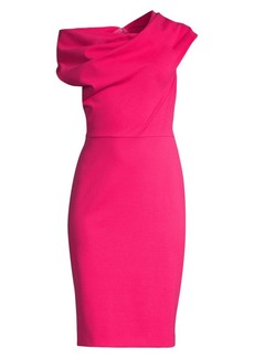 Escada Diarina Asymmetric Off-The-Shoulder Dress