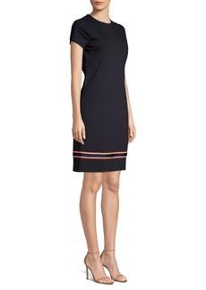 Escada Dibbon Scuba Logo Tape-Trim Dress