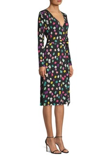 Escada Dielev Daisy Wrap Dress