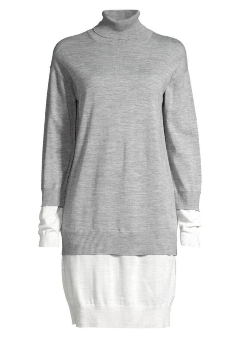 Escada Dilara Colorblocked Layered Sweater Dress