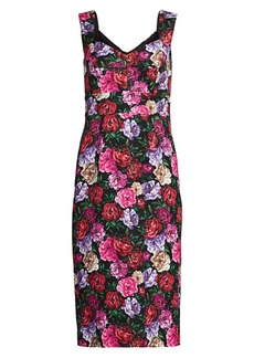 Escada Dinavia Floral Sheath Dress