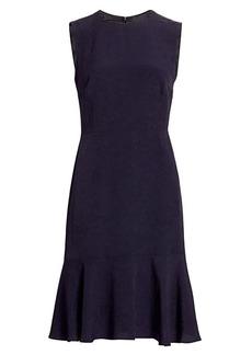 Escada Diora Sleeveless Flutter Dress