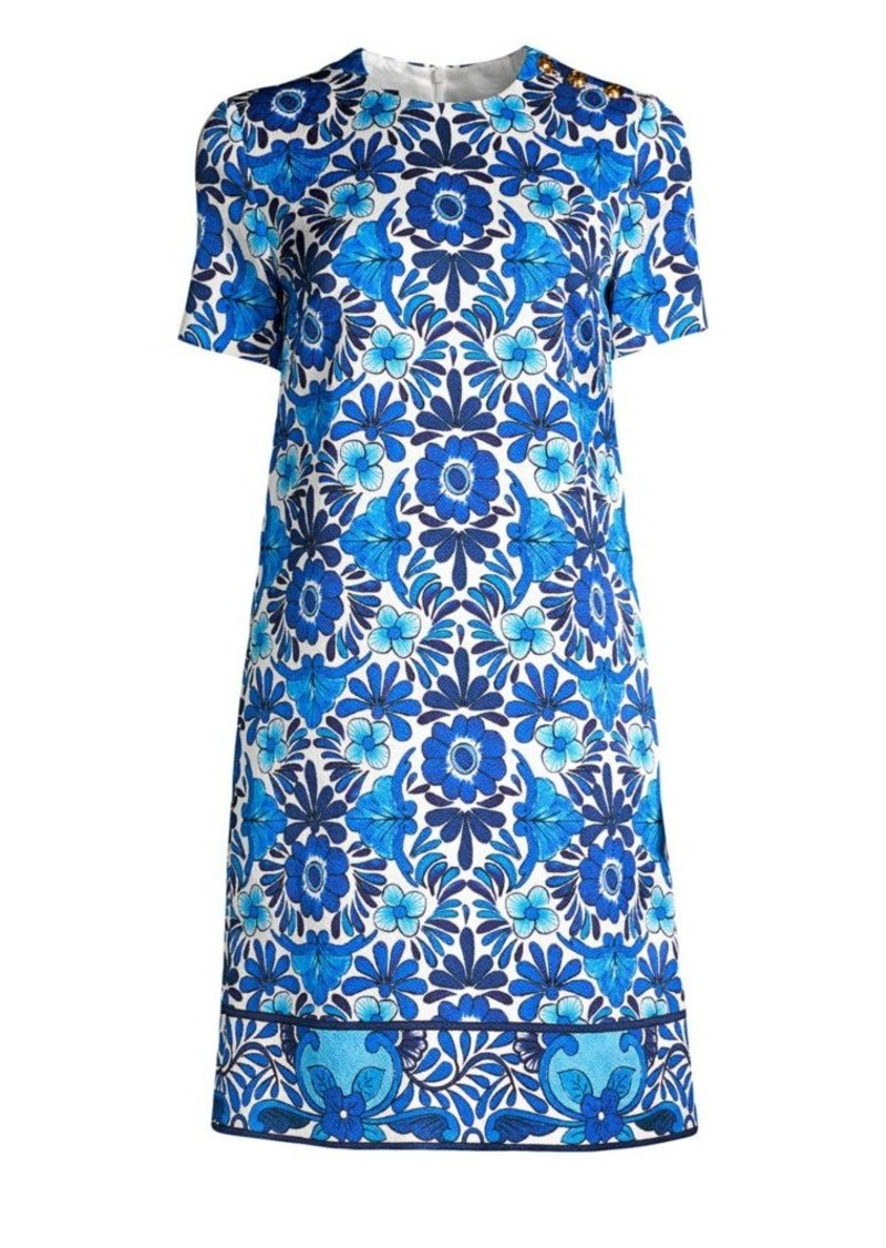 Escada Divinu Floral Printed Shift Dress