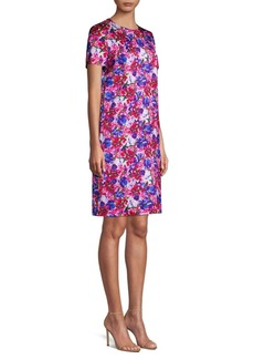 Escada Divisu Floral Print Shift Dress