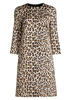 Escada Divisus Leopard-Print Shift Dress