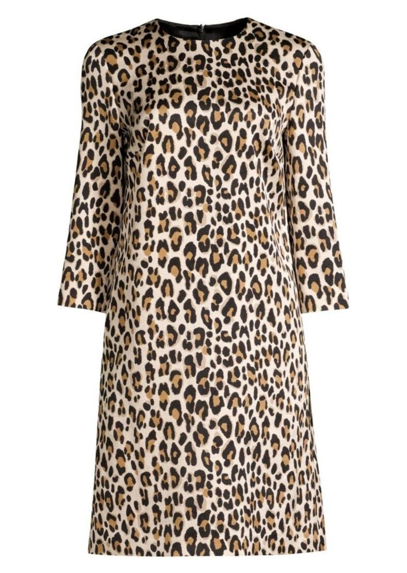 Escada Divisus Leopard-Print Shift Dress