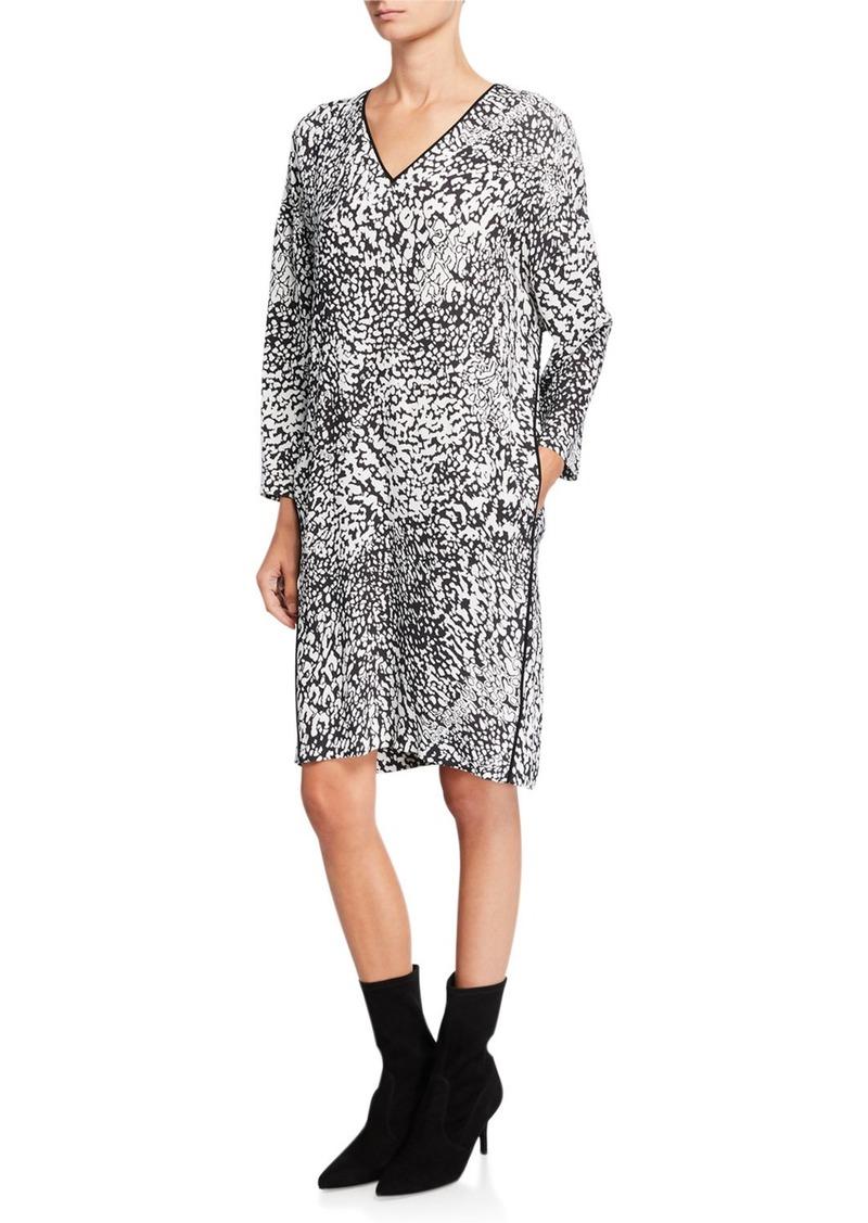 Escada Dixani Abstract Animal-Print Easy Dress