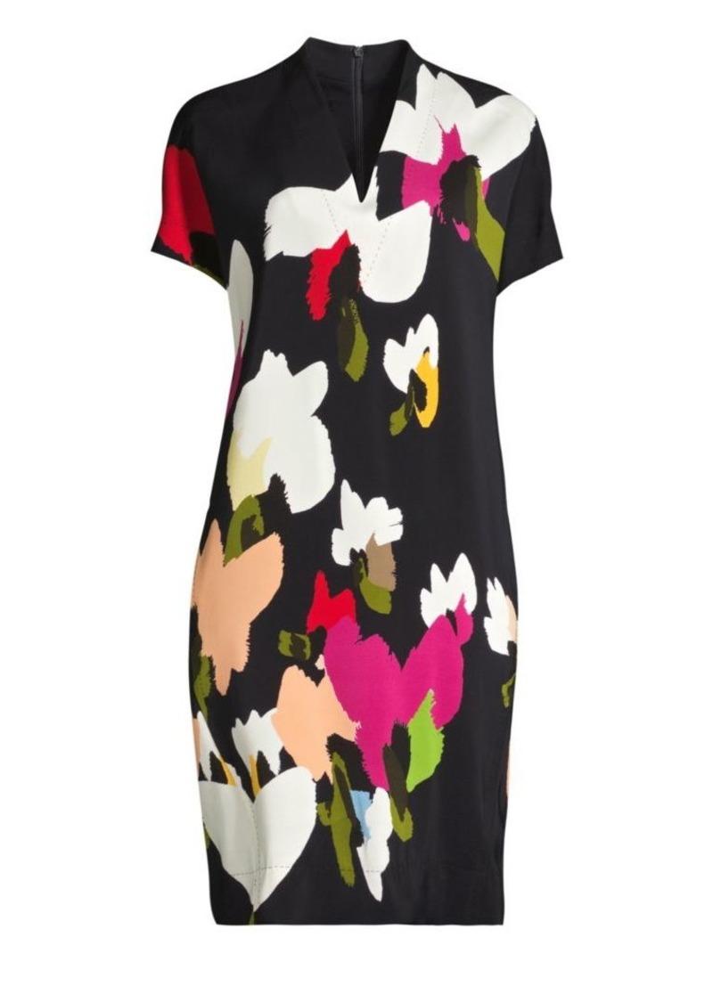 Escada Dixanula Abstract Floral Shift Dress