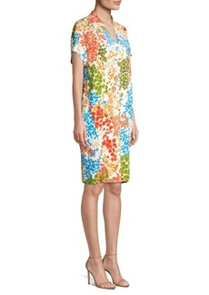 Escada Dixanula Leaf Print Tunic Dress
