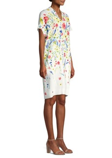 Escada Dixanula Short Sleeve Floral Dress