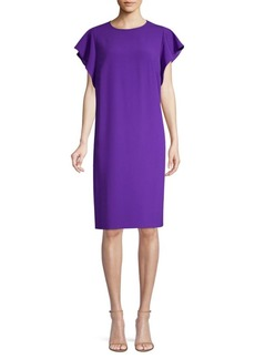 Escada Dlat Ruffle-Side Shift Dress