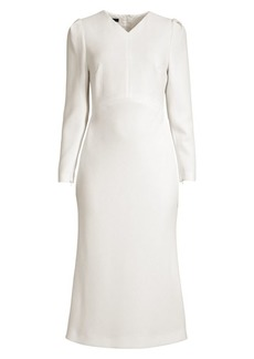 Escada Dllea Wool Crepe V-Neck Dress