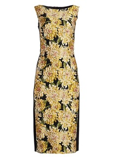 Escada Dlleha Chrysanthemum Jacquard Sheath Dress