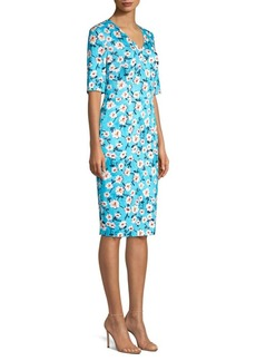 Escada Dnila Floral Sheath Dress