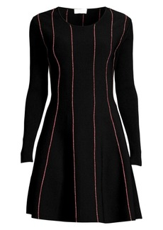 Escada Doja Striped Knit Flare Dress
