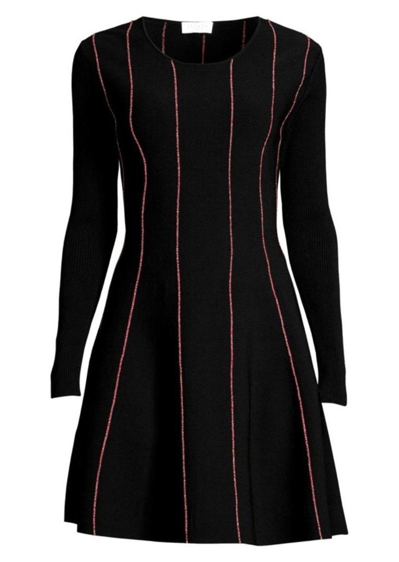 Escada Doja Striped Knit Flare Dress