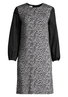 Escada Dpolina Animal-Print Jacquard Dress