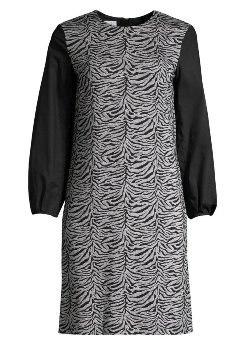 Escada Dpolina Animal-Print Jacquard Dress