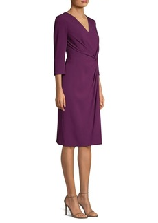 Escada Draped V-Neck Dress