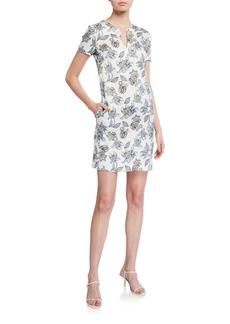 Escada Dsissas Paisley Floral Printed T-Shirt Dress