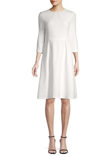 Escada Dukata Pleated A-Line Dress
