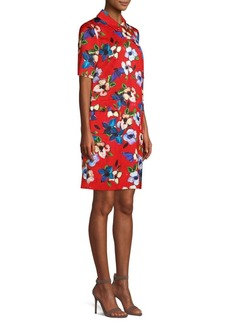 Escada Dullessa Hammered Floral Shift Dress
