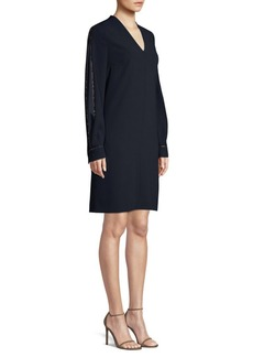 Escada Dussa Metallic Piped Shift Dress