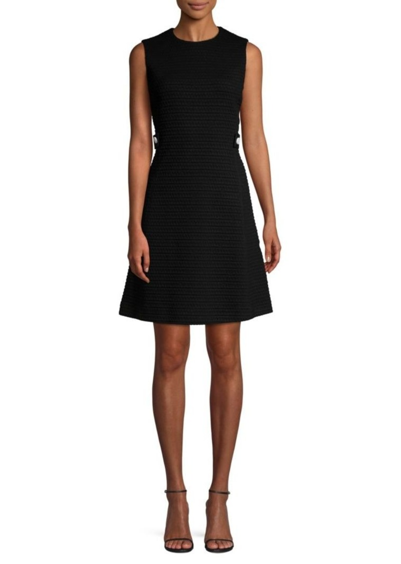 Escada Dyheart Jacquard Sleeveless Dress