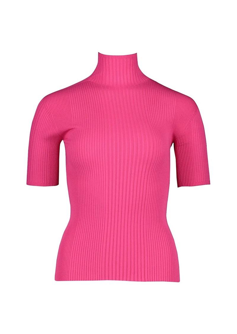 Escada Elbow-Length Ribbed Shirt