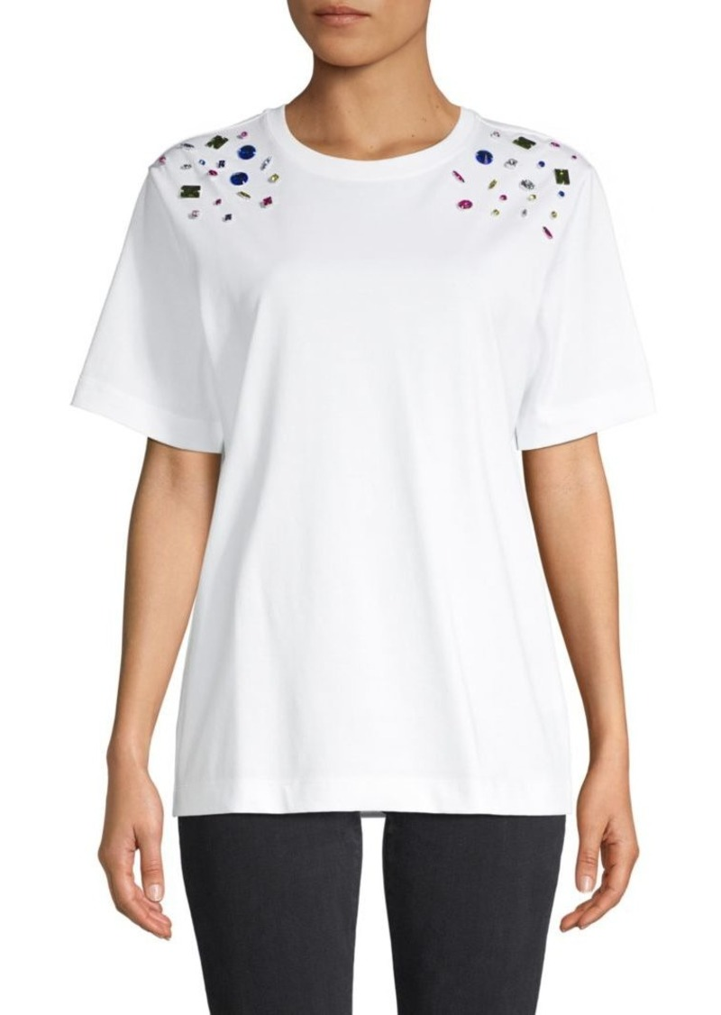 Escada Embellished Cotton Tee