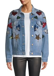 Escada Embellished Denim Jacket