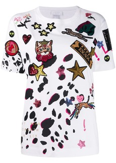 Escada embellished multi-patch T-shirt