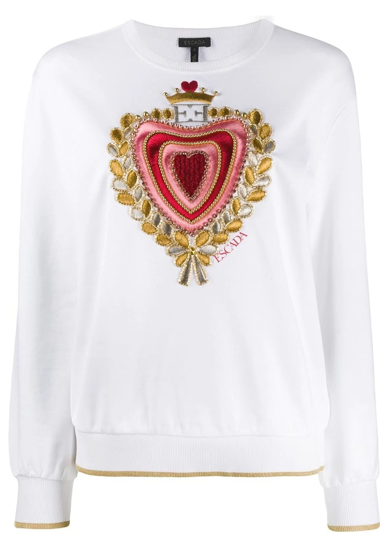 Escada embroidered chest jumper