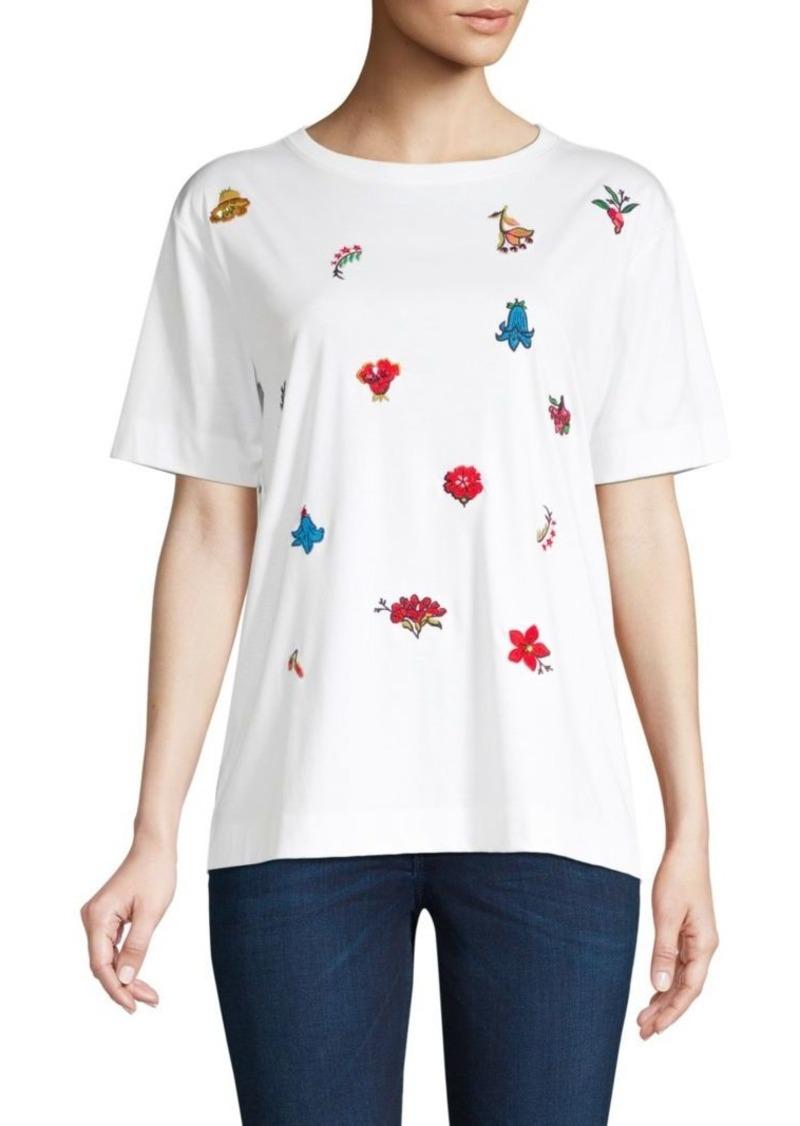 Escada Embroidered Cotton T-Shirt