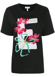 Escada embroidered flowers T-shirt