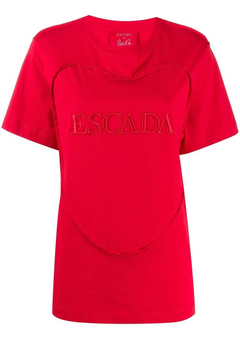Escada embroidered logo T-shirt