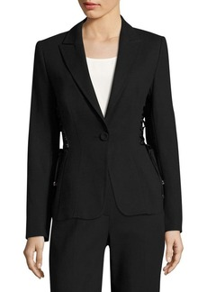 Escada Bakara Lace-Up Detail Jacket