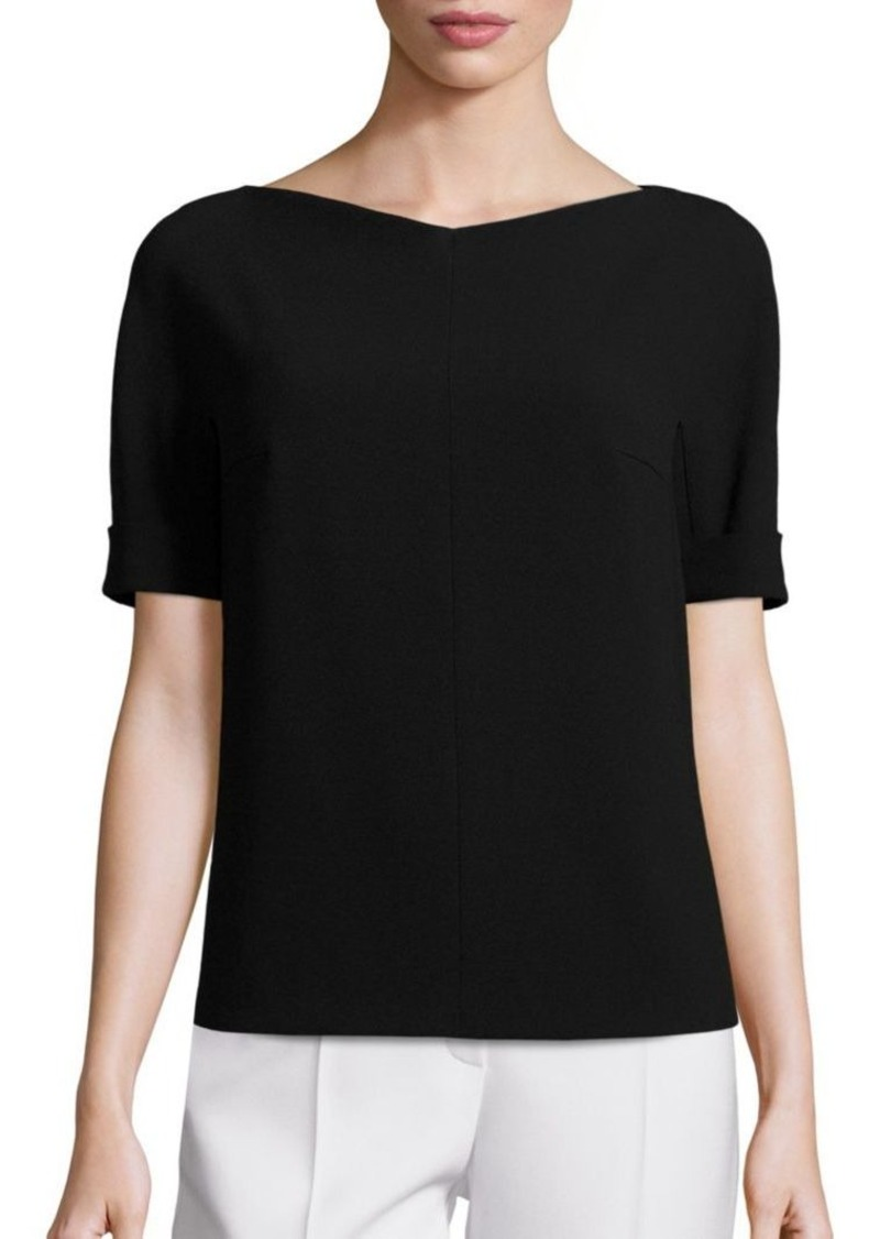 Escada Boatneck Half-Sleeve Top