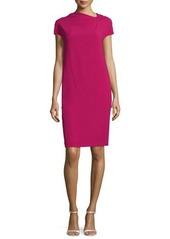 Escada Cap-Sleeve Back-Drape Dress