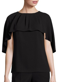 Escada Cape-Shoulder Blouse