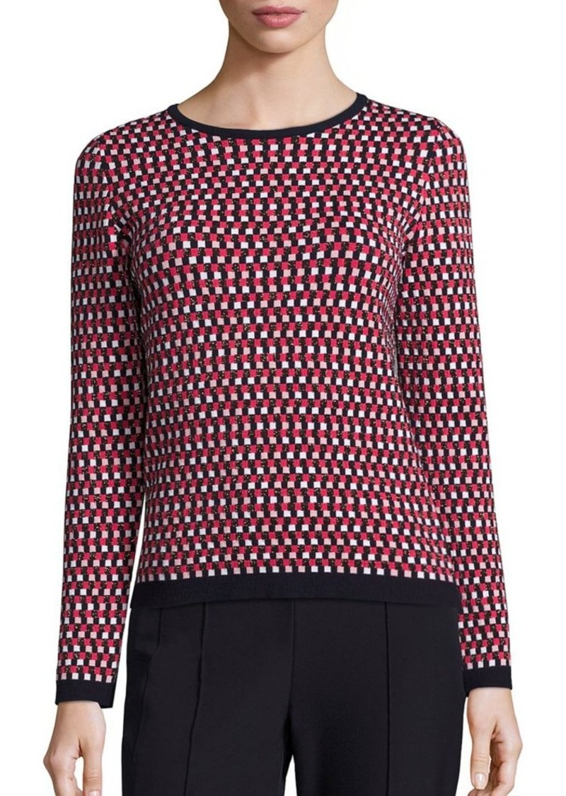 Escada Check Jacquard Sweater