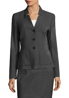 Escada Checked Wool Blazer