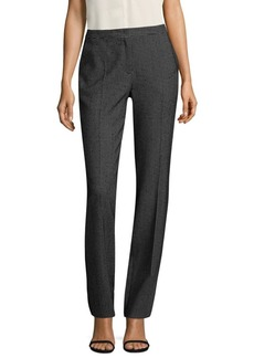Escada Checkered Wool-Blend Pants