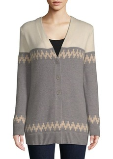 Escada Colorblock Wool Cardigan