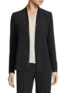 Escada Crystal Trim Open Jacket