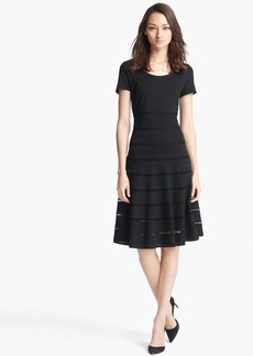 ESCADA 'Dondi' Mesh Stripe Flared Dress
