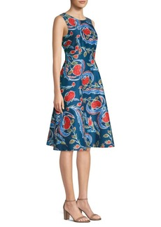 Escada Dsiwana Floral A-Line Dress