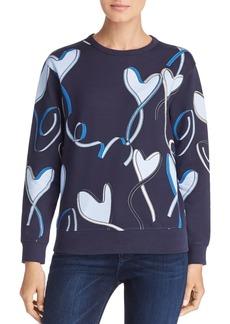Escada Sport Elapo Heart Ribbon Print Sweatshirt