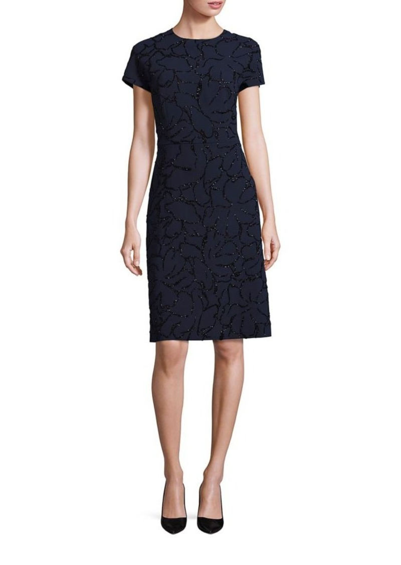 Escada Embellished Sheath Dress