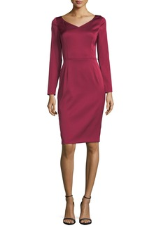 Escada Eve Duchesse Satin Cocktail Sheath Dress